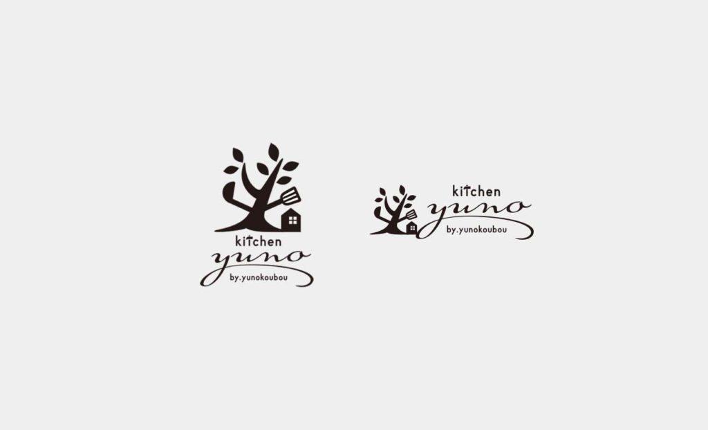キッチンユノ ロゴデザイン